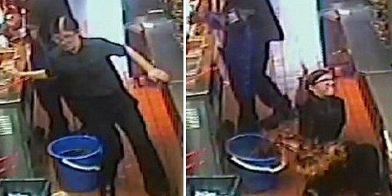 La empleada de McDonald's se abrasa al caer sobre un cubo con aceite hirviendo