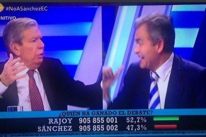 Se dispara 13TV con la brutal bronca entre José Luis Corcuera y Carmelo Encinas