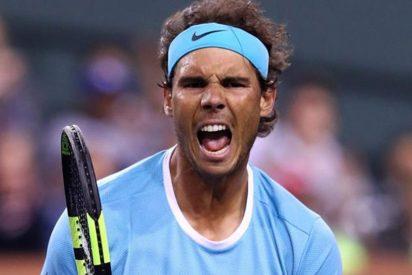 Nadal bloquea a Zverev, sufre, salva una bola de partido y pasa a cuartos en Indian Wells