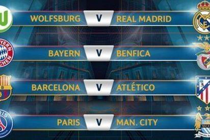 Barcelona-Atlético y Wolfsburgo-Real Madrid en los cuartos