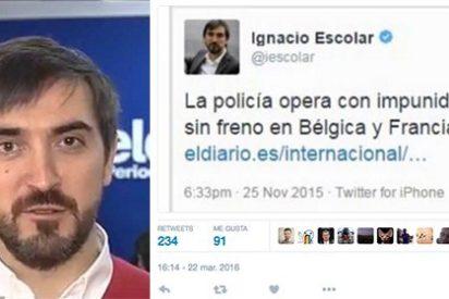 """¿Le seguirá pareciendo a Ignacio Escolar que la policía actúa con """"impunidad y sin freno"""" en Bélgica?"""
