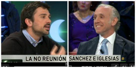 """Eduardo Inda deja KO a Ramón Espinar: """"A mí el hijo de una tarjeta black no me va a dar lecciones de moral"""""""