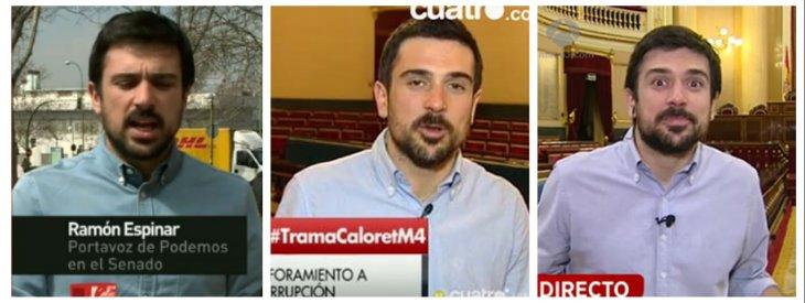 El senador podemita Ramón Espinar prefiere estar en las teles que votar la aprobación de leyes