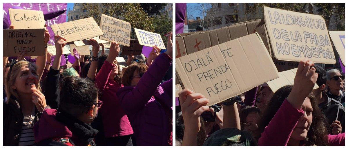 """Un grupo de ultrafeministas revienta la 'mascletà' al grito de """"follo con quien quiero"""""""