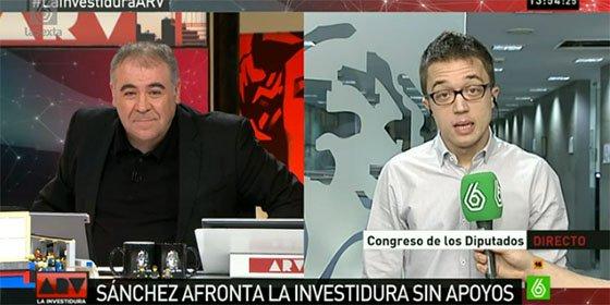 """El palo más inesperado de Ferreras a Errejón por su defensa a Otegi: """"¡Esto no es Venezuela"""""""