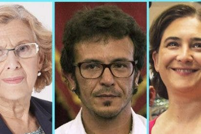 El 'no' de Podemos a Pedro Sánchez puede hacer caer a Carmena, Colau y Kichi