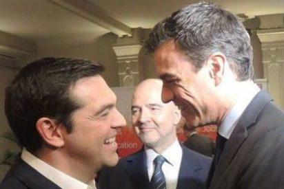 Pedro Sánchez pide al griego Tsipras que convenza a Pablo Iglesias de que le haga presidente