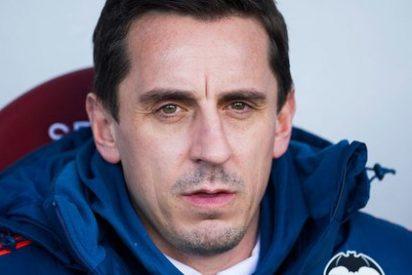 """Gary Neville: """"Es un buen resultado para nosotros, nadie quería jugar este Athletic-Valencia"""""""
