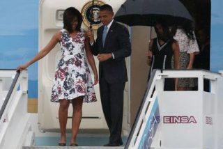 Michelle Obama luce en La Habana un vestido de Carolina Herrera que cuesta 2.000 euros