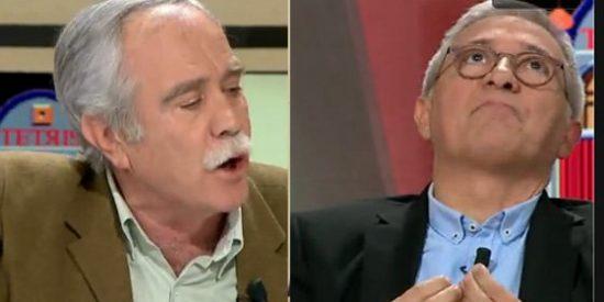 """Pérez Henares se cansa de las 'marcianadas' de Xavier Sardá: """"¡Tómate un Lexatin, que yo no lo necesito!"""""""