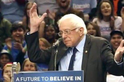 Un pájarito se cuela en un mitin del demócrata Sanders y arrasa Twitter