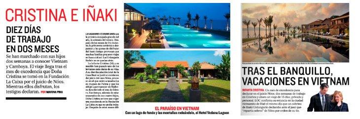'La Otra Crónica' de El Mundo se inventa un viaje de Cristina de Borbón e Iñaki Urdangarin a Vietnam