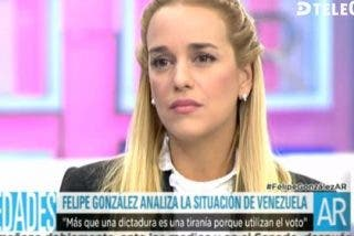 """Lilian Tintori: """"No es cuestión que falte comida o medicinas, en Venezuela se utiliza la Justicia para perseguir al que piensa distinto"""""""