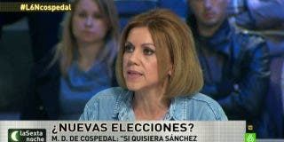 """María Dolores Cospedal: """"Si Pedro Sánchez quisiera en 24 horas tendríamos un nuevo Gobierno"""""""
