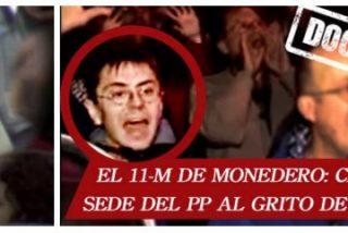 Así asediaban Pablo Iglesias y Monedero las sedes del PP mientras Madrid contaba los cadáveres del 11-M
