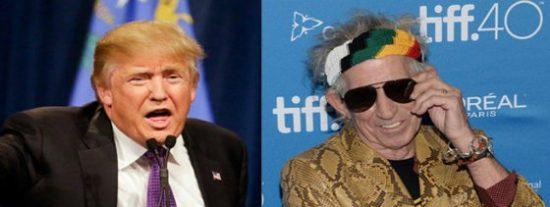 El 'stone' Keith Richards amenazó con un cuchillo a Donald Trump