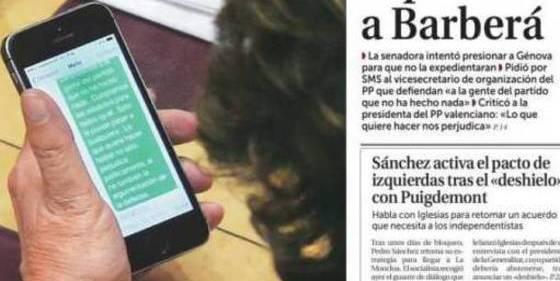 Rita Barberá, 'cazada' por 'La Razón' pidiendo por SMS al PP que la defienda