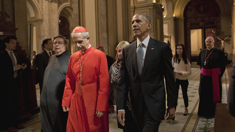 Barack Obama visitó la Catedral Metropolitana de Buenos Aires
