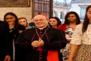 EL cardenal Ortega recibe a Obama en la catedral de La Habana