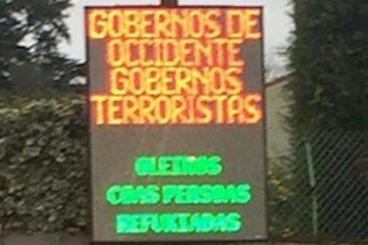 El alcalde de Oleiros (La Coruña) llama terroristas a los gobiernos de Occidente en rótulos públicos