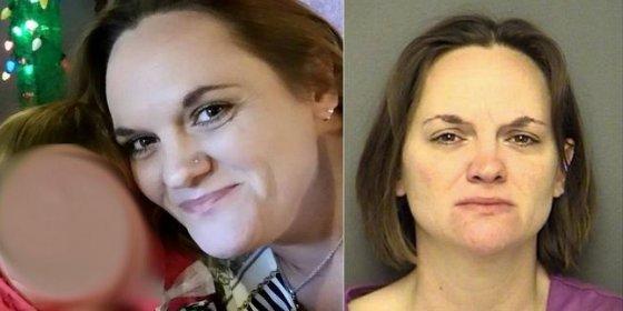 Esta drogata ha quemado a su hija de dos años metiéndola en el horno