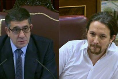 Al impertinente podemita jefe le cae la primera bronca en el Congreso de Patxi López, presidente de la Cámara