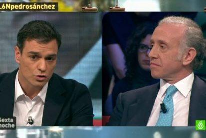 """Pedro Sánchez se abraza al 10 veces imputado Gómez Besteiro: """"Confío en su inocencia"""""""