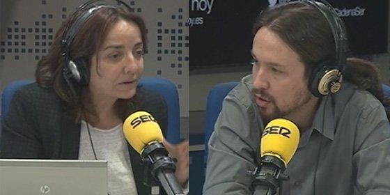 """El dardo de Pepa Bueno a Pablo Iglesias: """"Lo de comentar el trabajo de los periodistas será una novedad de la nueva política"""""""