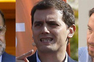 Albert Rivera, con un sondeo explosivo en la mano, revienta las ilusiones de Rajoy e Iglesias