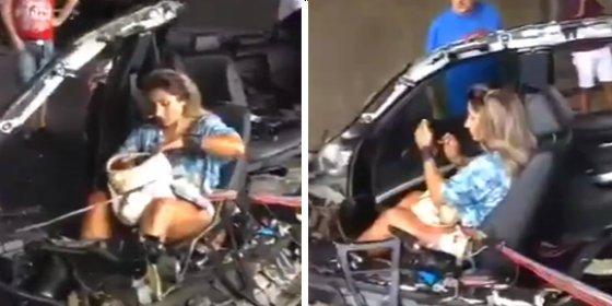 [VÍDEO] Se estrella a 225 km/h y se pone a hablar con el móvil tan pancha