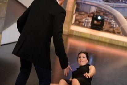 Piscinazo de Silvia Abril en 'El Hormiguero' imitando a Louis Van Gaal