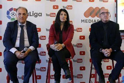 """Javier Tebas y Jaume Roures: """"Imaginaos el escándalo que aquí habría si a la Liga se le ocurre vender las ruedas de prensa"""""""