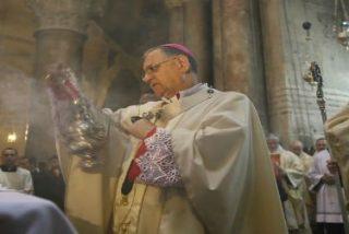 El patriarca latino de Jerusalén celebra la misa de Resurrección de Cristo