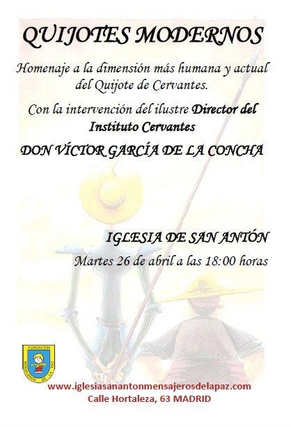 Quijotes modernos: homenaje a la dimensión más humana del Quijote de Cervantes