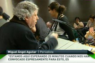 Vídeo / Así fue el cabreo monumental de Miguel Angel Aguilar con Pablo Iglesias