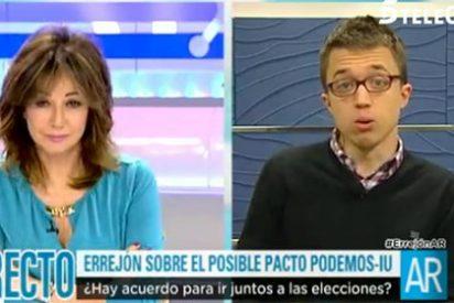 """La estocada final de Ana Rosa a Errejón en forma de pregunta inocente: """"¿Has perdido influencia y fuerza dentro de Podemos?"""""""