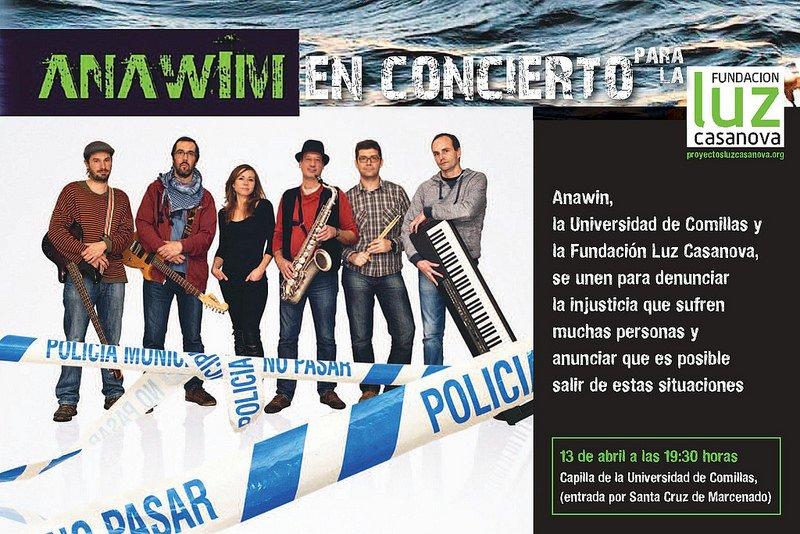 Concierto de Anawin en la Universidad de Comillas