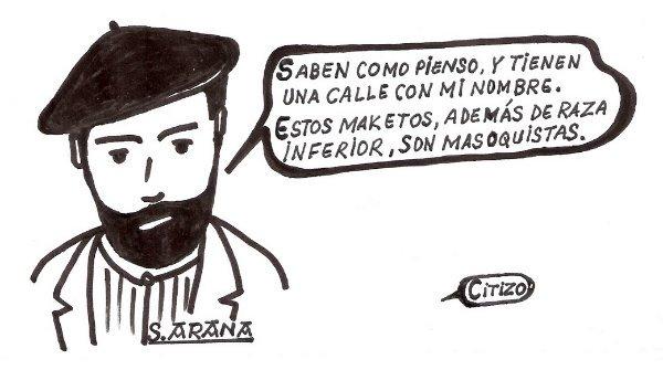 No a la calle Sabino Arana