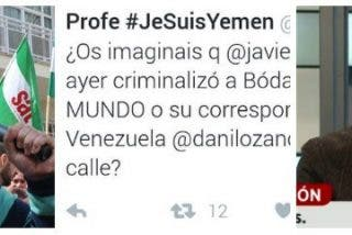 El ejército tuitero de Podemos exige a El Mundo que despida al periodista que le quitó la careta a Bódalo