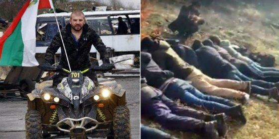 """El feroz luchador que 'caza' inmigrantes con una moto: """"¡Son gente asquerosa!"""""""