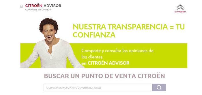 Los clientes de Citroën opinan en su herramienta Advisor