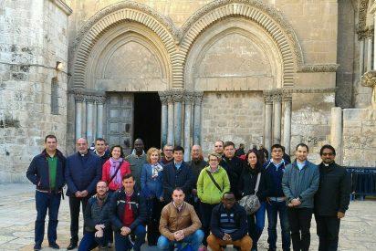 La rectora de la Universidad Pontificia de Salamanca se reúne con el Patriarca Latino de Jerusalén