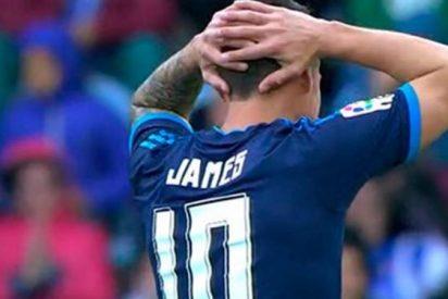El jugador del Madrid que se ha ido a por James Rodríguez al final del partido