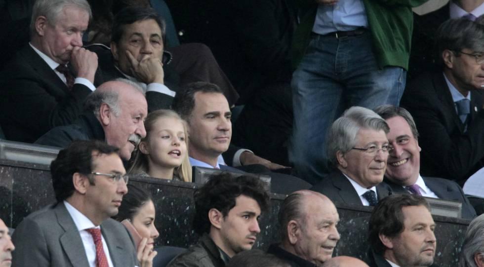 La princesa Leonor presencia el Atlético-Bayern, su primer gran acontecimiento deportivo