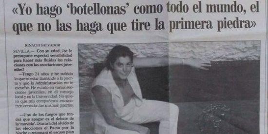 """Susana Díaz: """"Yo hago 'botellonas' como todo el mundo... [en 1999]"""""""