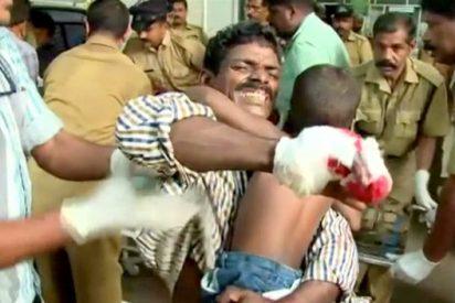 Al menos 105 muertos y 350 heridos en un templo indio por cohetes artificiales