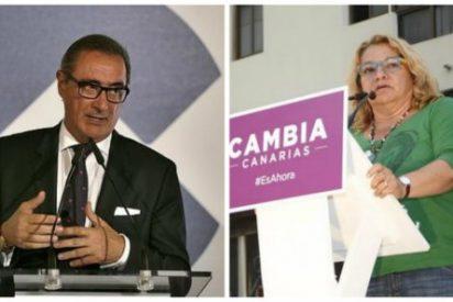 """Carlos Herrera 'fusila' a la pacifista canaria de Podemos: """"A ver, descerebrada, ¿quién te defenderá cuando ataquen Canarias?"""""""