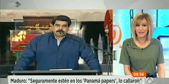 Festival de 'zascas' de Susanna Griso al chavista Maduro, financiador de Podemos