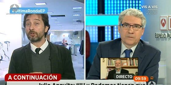 Piruetas podemitas: hasta en cinco ocasiones Rafa Mayoral evita contestar a García-Abadillo sobre si Otegi debe condenar el terrorismo
