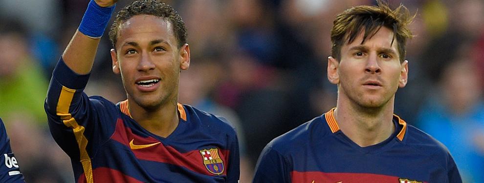 Messi pone a Neymar en su sitio en el puesto de mando del Barça